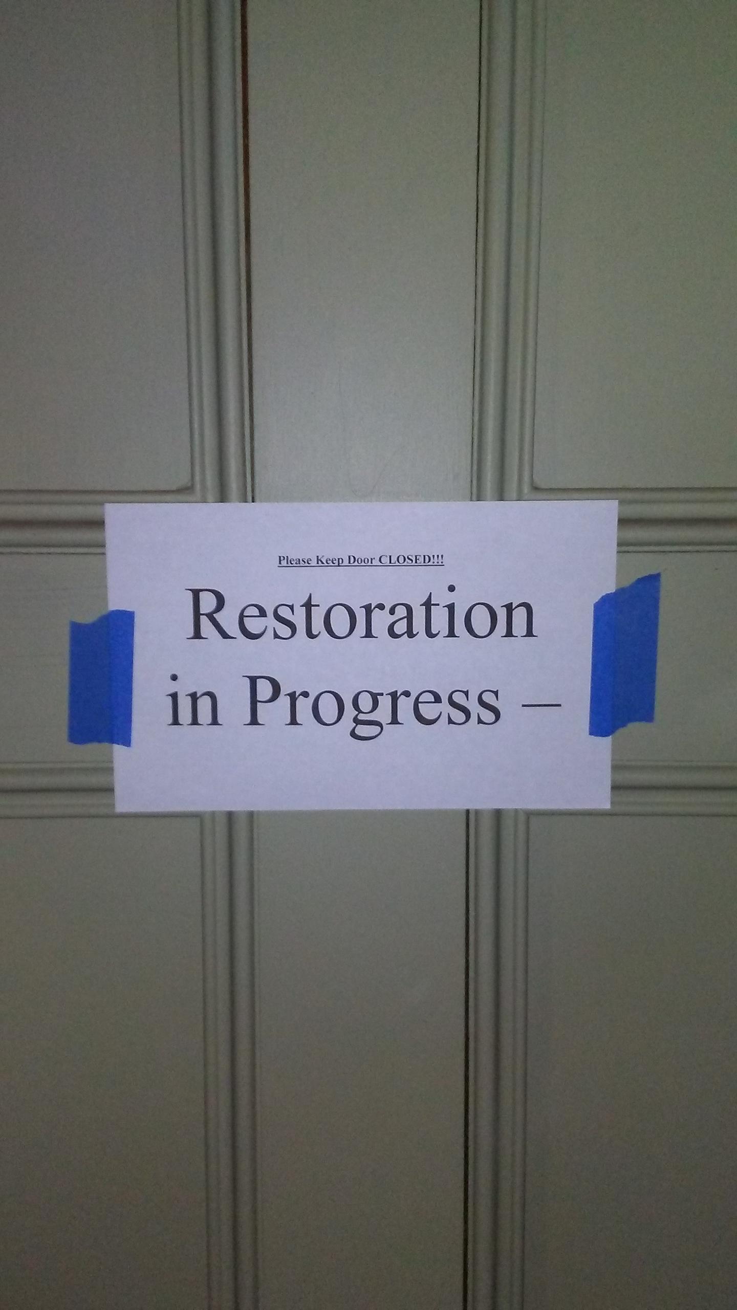 Butler's Pantry Restoration 2018